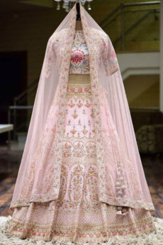 Light Pink Lehenga Bridal - Zardozi Fashion